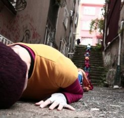 """Bodies in urban spaces"" by Willi Dorner"